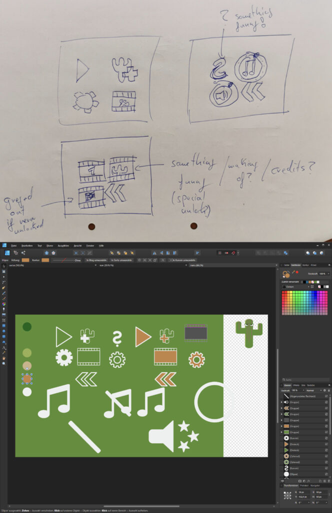 Overview of the Shittycacus UI Design Process