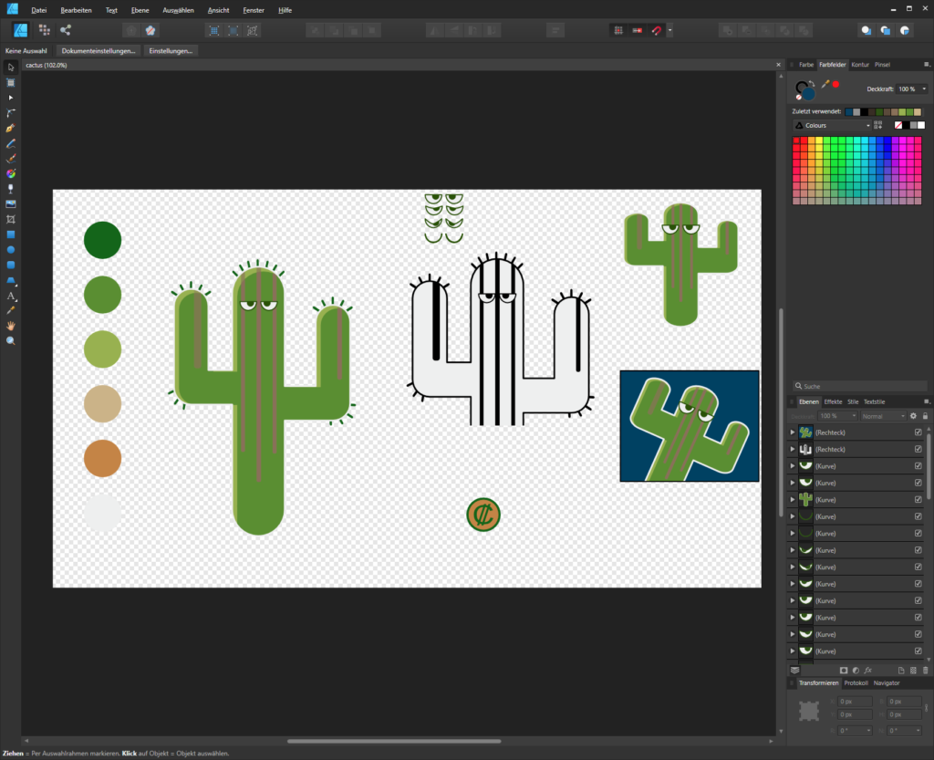 Shitty Cactus character design.